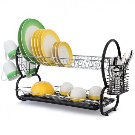 Artmoon Desert Двухуровневая сушилка для посуды из хромированной стали, размеры: 67.5x38.5x25 см
