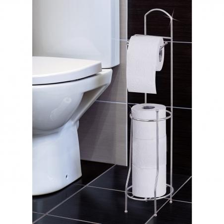 Tatkraft Grace Напольный держатель и накопитель для туалетной бумаги из хромированной стали