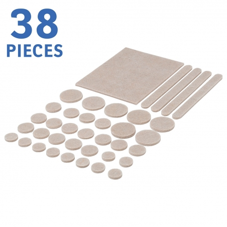 Tatkraft No Scratch Furniture Felt Pads Floor Protectors Set of 38