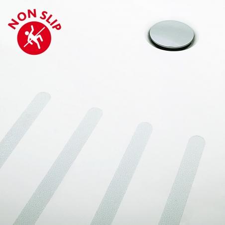 Tatkraft Keep Non Slip Bath & Shower Safety Stripes Self Adhesive 12pcs PVC