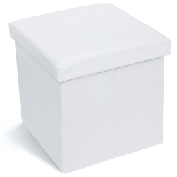 Tatkraft Blanc Ottoman Folding...