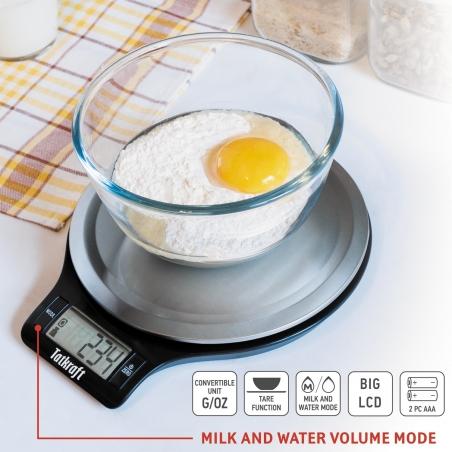 Tatkraft Classic Электронные кухонные весы из нержавеющей стали для комфортного приготовления пищи