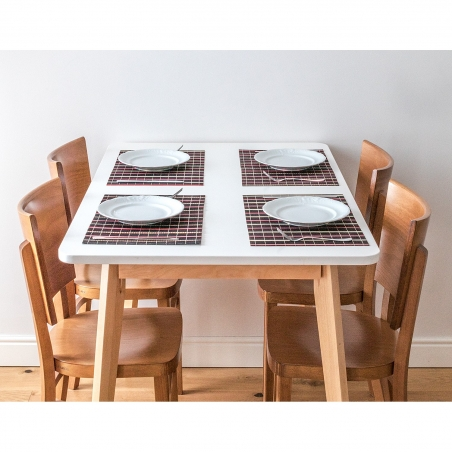 Tatkraft Super Natural Bamboo Table (6 Pack) Heat Resistant Table Mats