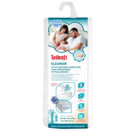 Tatkraft Eleonor Защитный водонепроницаемый гипоаллергенный наматрасник 152x203x46 см
