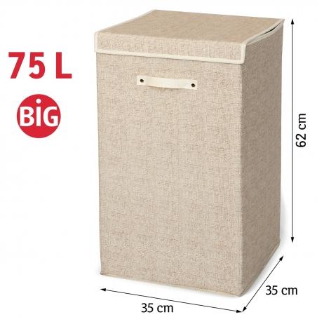 Artmoon Felix Складная корзина для белья и хранения вещей с удобной крышкой на липучке, 75 л