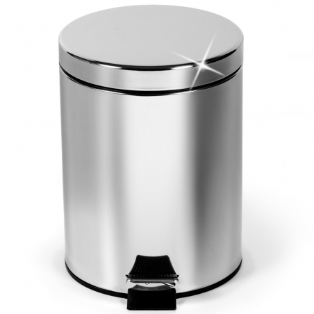 ArtMoon Moon Stainless Steel Round Pedal Bin capacity 5L Shiny