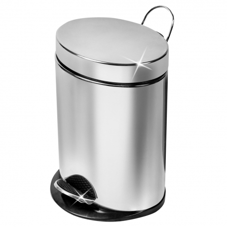 ArtMoon Saturn Stainless Steel Oval Pedal Bin capacity 5L Shiny