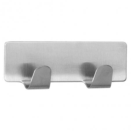 Tatkraft Tva Compact Towel Rack Stainless Steel Strong Stick On Self Adhesive Fix 2 Hooks