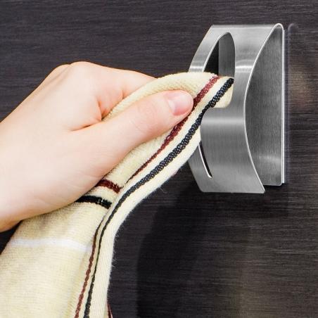 Tatkraft Point Самоклеящаяся вешалка для полотенец из нержавеющей стали, 5x7.5 см
