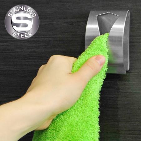 Tatkraft Iris Самоклеящаяся вешалка для полотенец из нержавеющей стали, 5x7.5x2.3 см