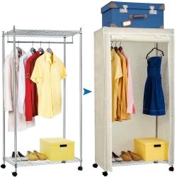 Сверхмощная стойка для одежды с двумя полками и...
