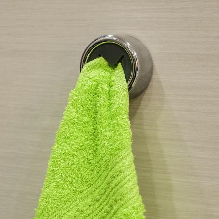 Tatkraft Bera Self Adhesive Round Tea Towel Holder Chrome Plated