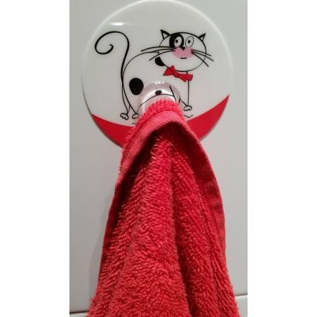 Tatkraft Funny Cats Bathroom Hook Static Cling Multiple Use