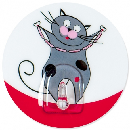 Tatkraft Tom Funny Cats Bathroom Hook Static Cling Multiple Use