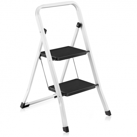 ArtMoon Zeppelin 2 Step Foldable Ladder Powder Coated Steel 46 5X55