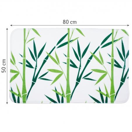 Tatkraft Green Bamboo Bath Mat 50X80 cm Ultra Soft Anti Slip Microfiber