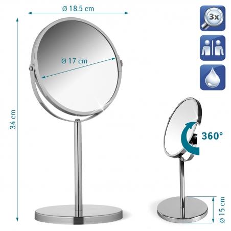 Tatkraft Venus Зеркало двустороннее на ножке, диаметр 17 см