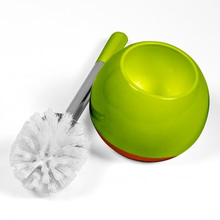 Tatkraft Fioretto Verde-Arancio Toilet Brush Set Shatterproof Double Acrylic