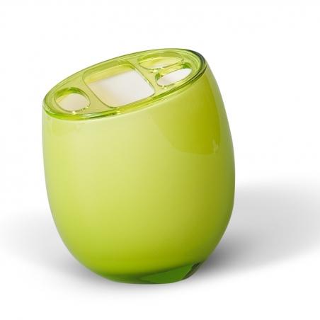 Tatkraft Repose Green Стакан для зубных щеток из прочного небьющегося акрила