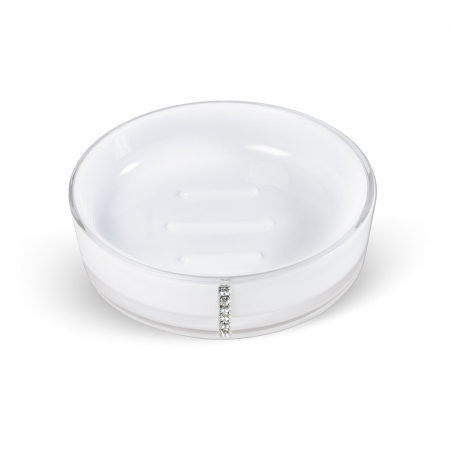 Tatkraft Diamond White Soap Dish Multilayer Acrylic